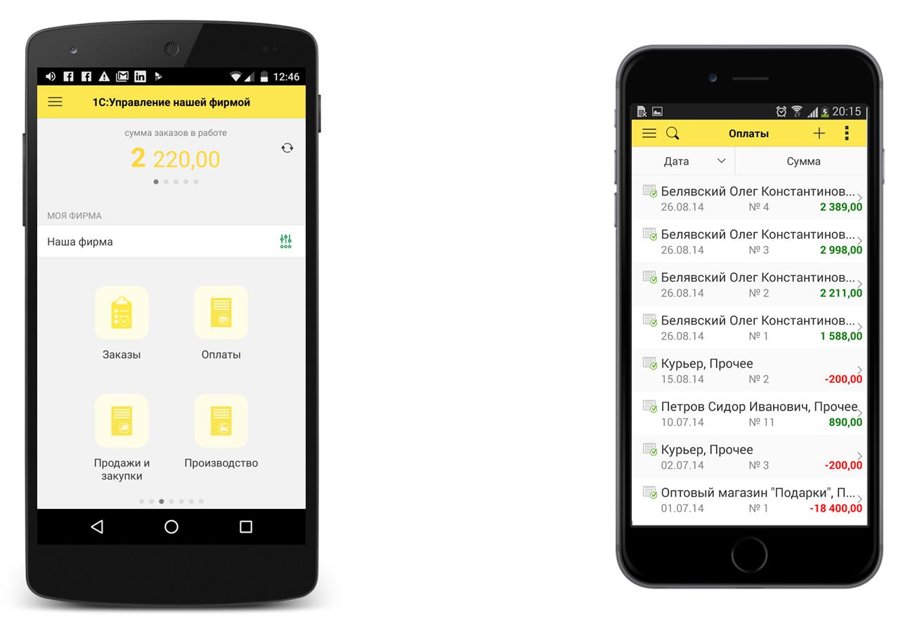 История одного приложения: мобильное «1С: Управление нашей фирмой»