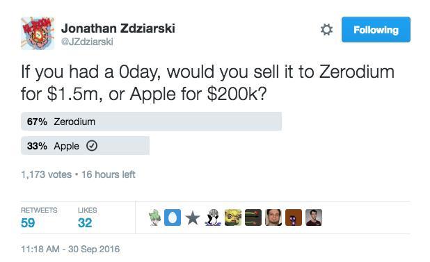 Никто не хочет сообщать Apple об уязвимостях iPhone