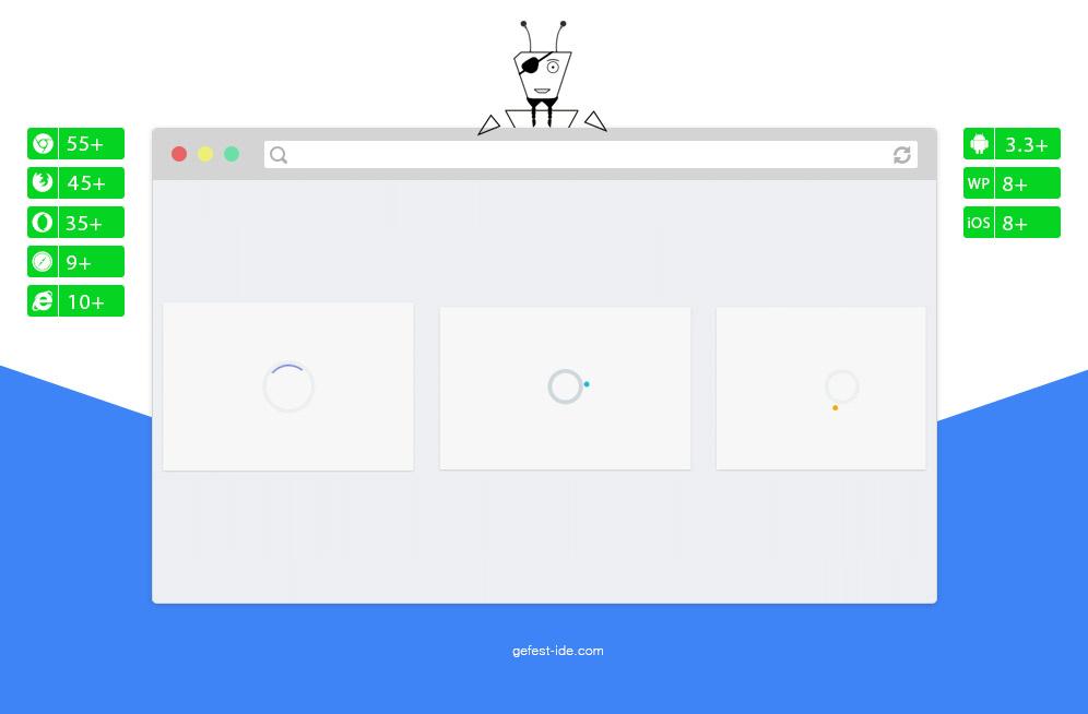Preloader на css и svg - Flat UI CSS Loaders