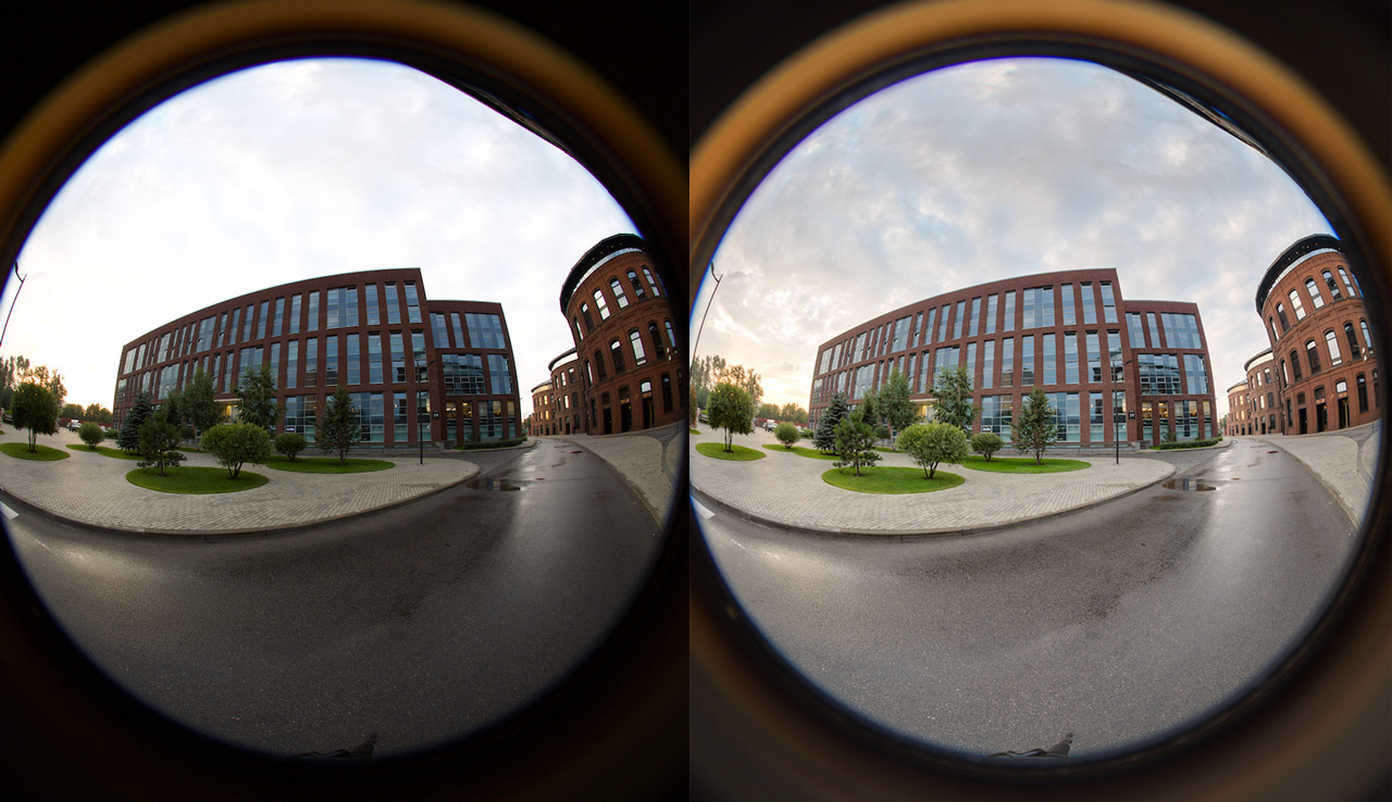Comparison of regular photography and HDR