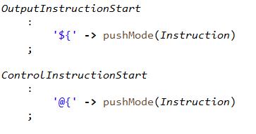 Это можно сделать одним правилом с альтернативным блоком, но тогда это превратится в ветвление по значению константы в коде, а мы за декларативность