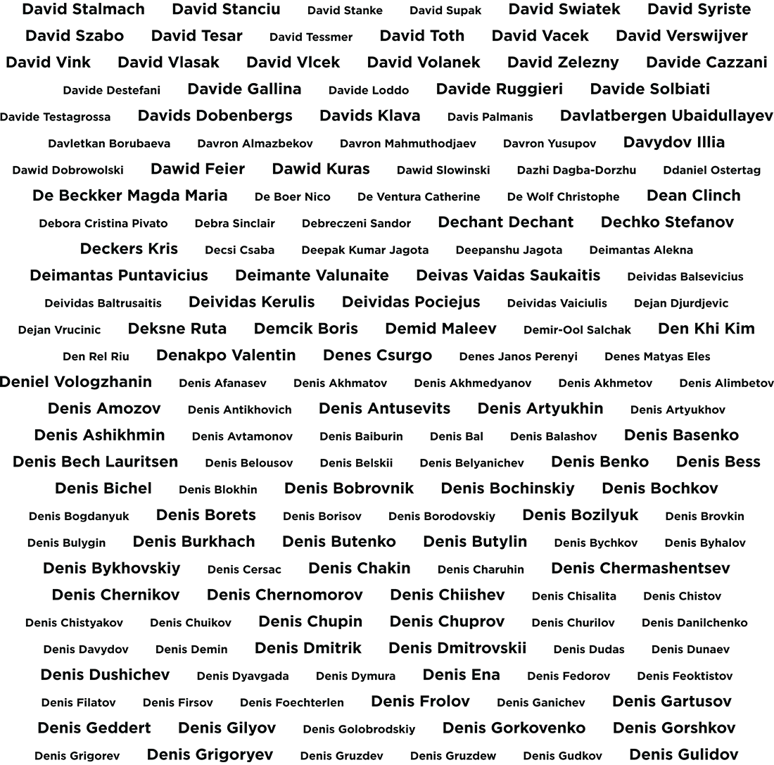 Музей SkyWay,имена инвесторов,буква D