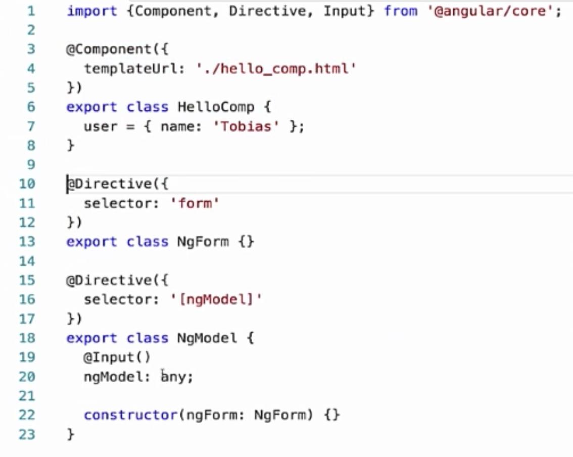 angular2 compiler examples