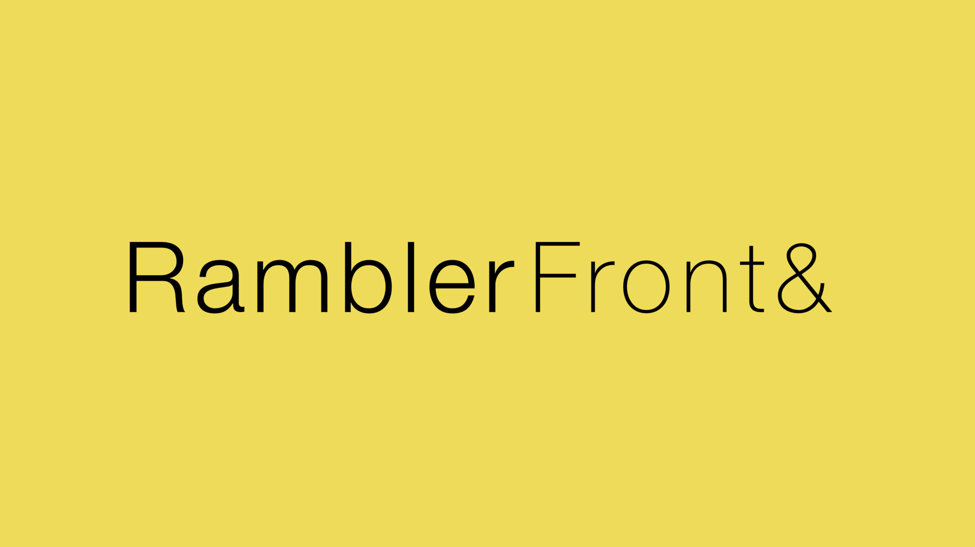 Анонс RamblerFront& #2