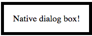Знакомство с новым элементом dialog
