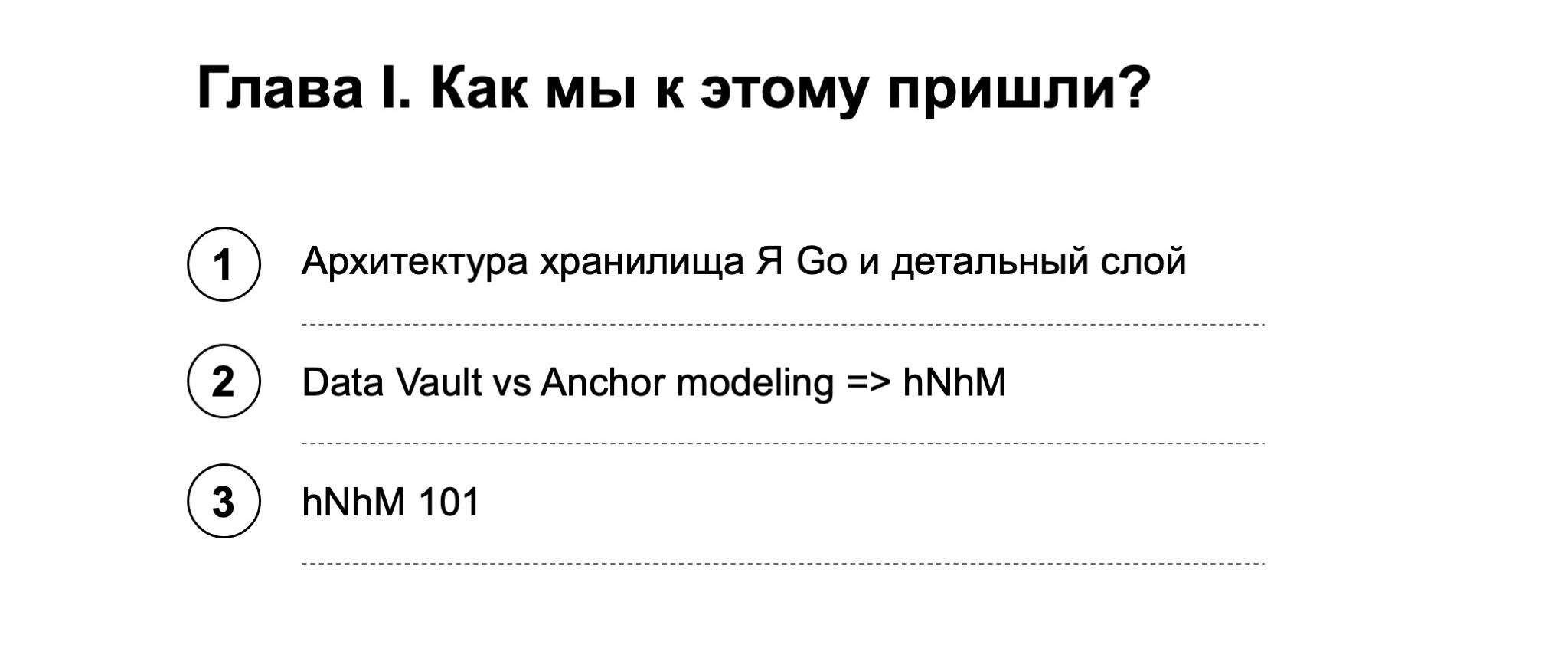 Как мы внедрили свою модель хранения данных  highly Normalized hybrid Model. Доклад Яндекса