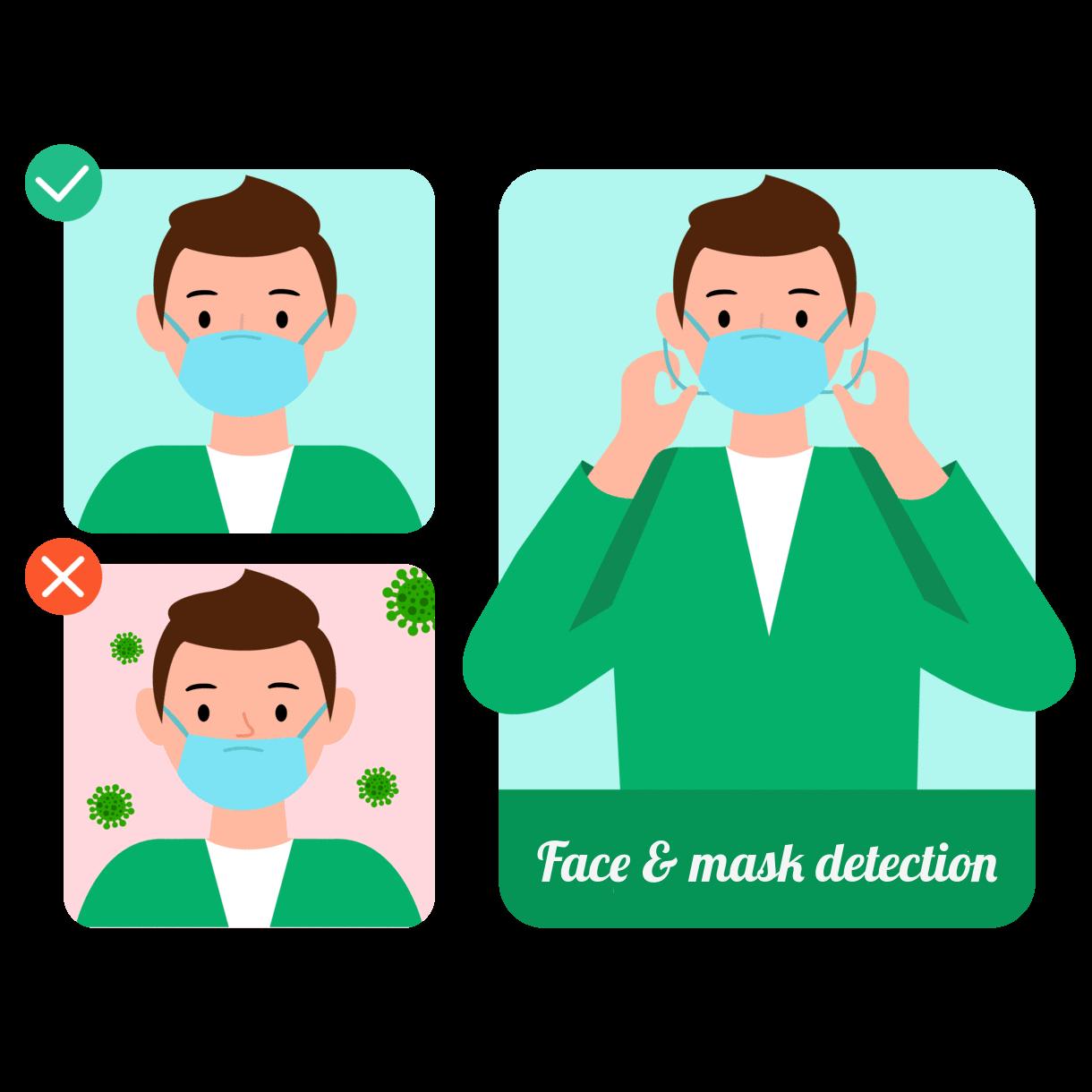 Определение лица и маски