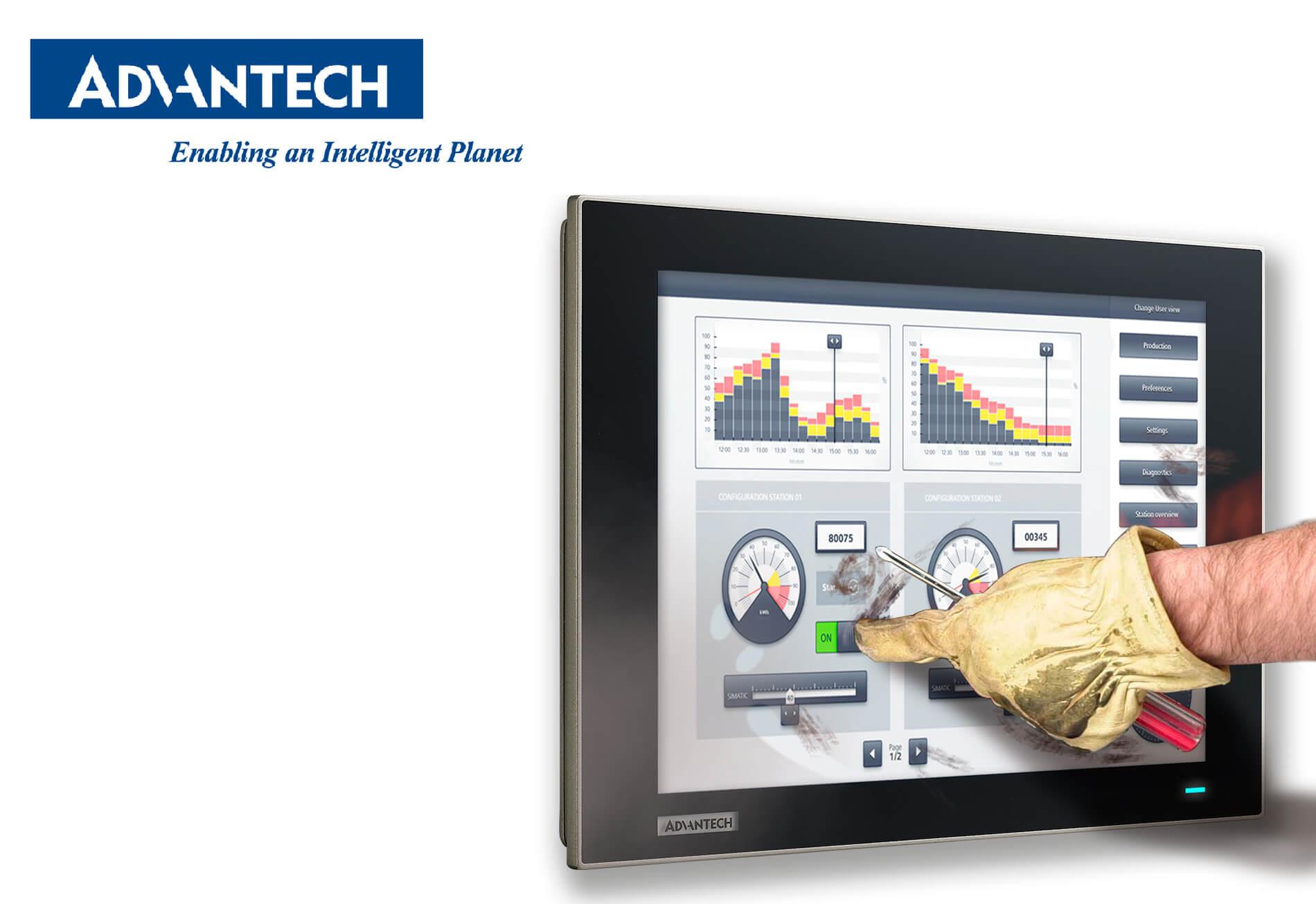 Модульные промышленные мониторы Advantech FPM-7002