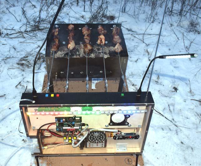 Автоматизированный помощник приготовления шашлыка «E-Mangal»