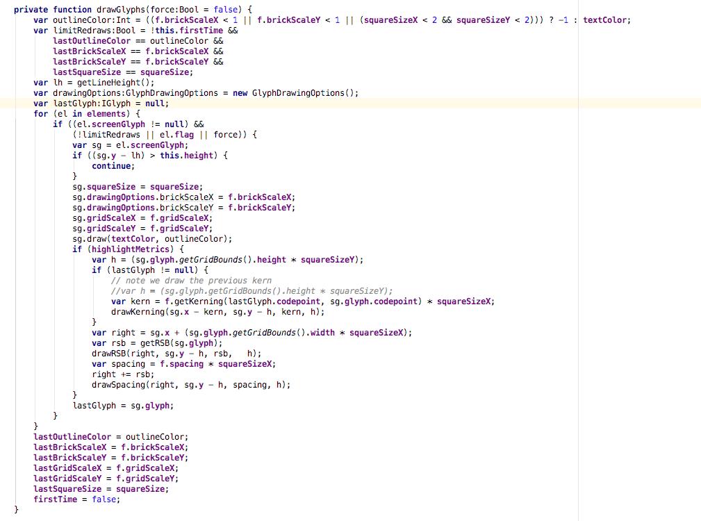 Код для отрисовки