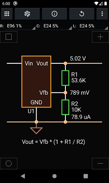 Vout, resistors