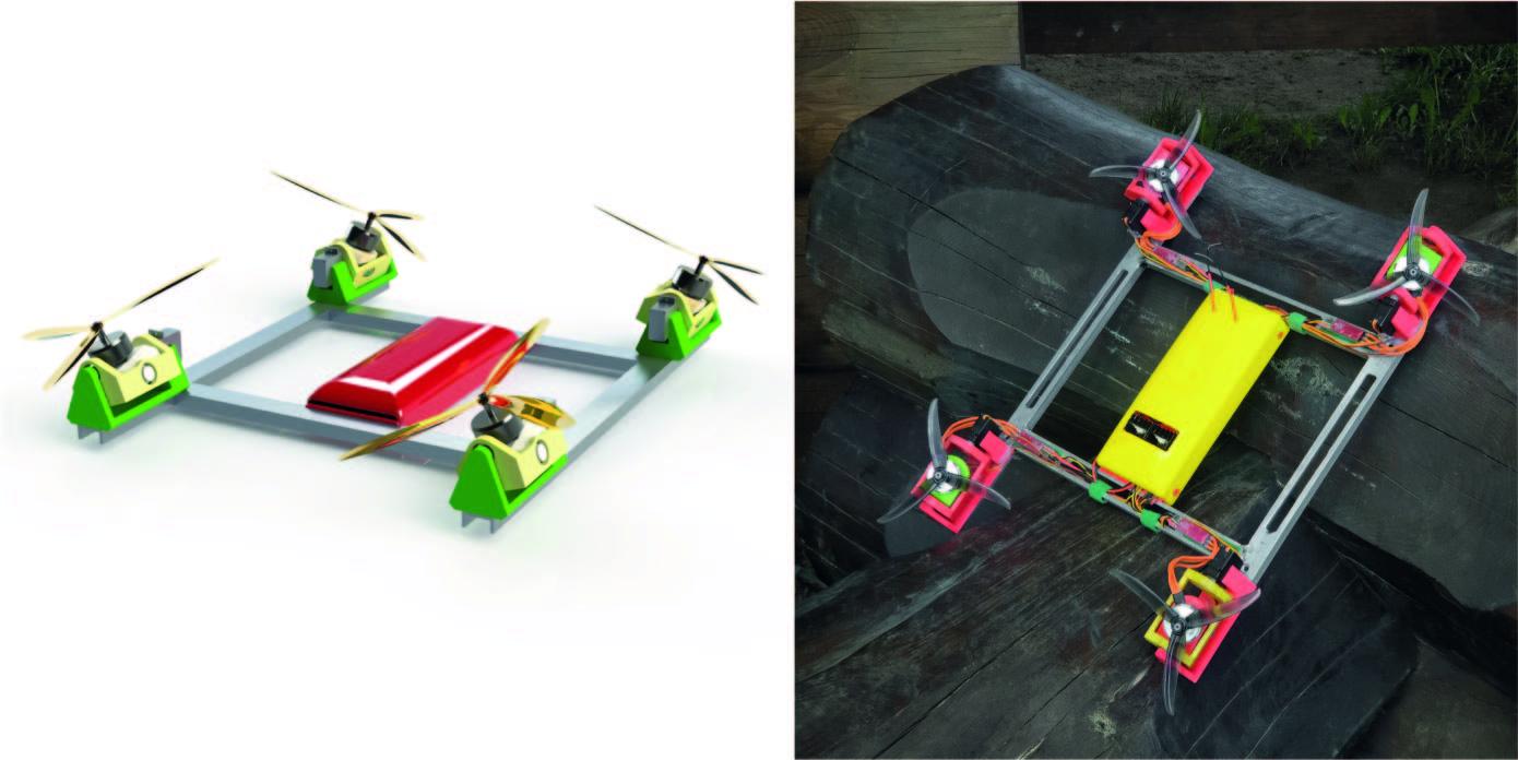 Летающая табуретка или идеальный квадрокоптер для перевозки пиццы