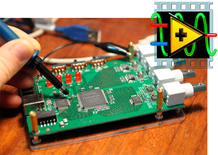 We write the FPGA loader in LabVIEW. Part 2