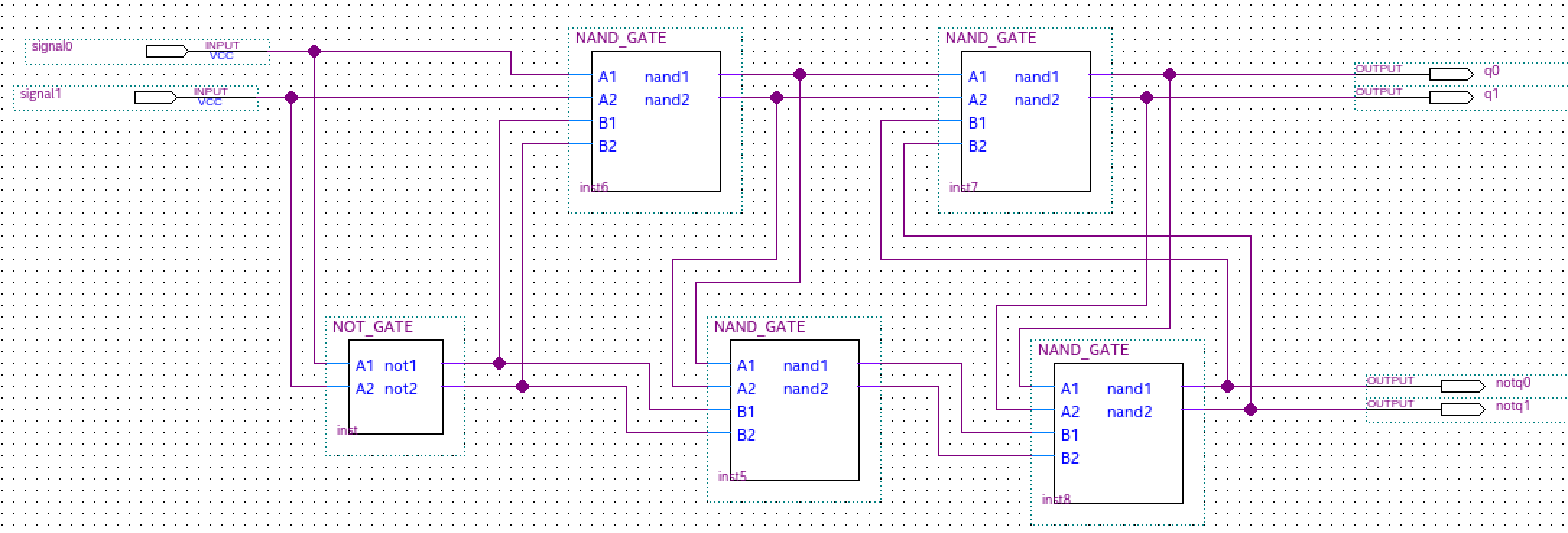 Implementation Of A Simple Ternary System Habr D Latch Circuit Diagram However Can Be Obtained By Replacing The Binary Nor Or Nand Gates Used With Corresponding T