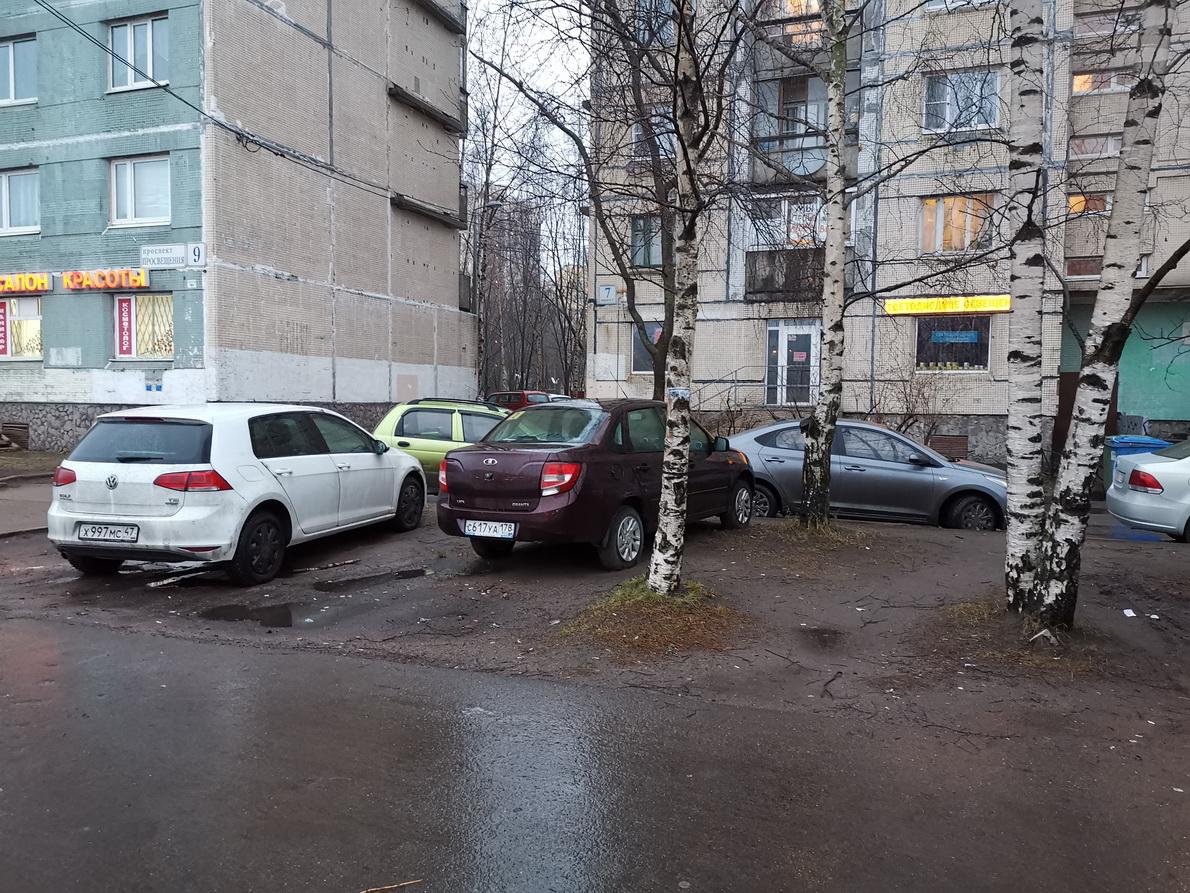 Парковка на газоне и ответ ГИБДД
