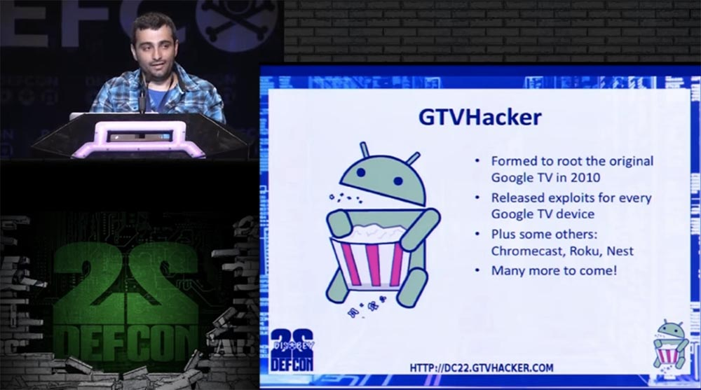 Conference DEFCON 22. Group GTVHacker. We crack everything: 20 devices in 45 minutes. Part 1
