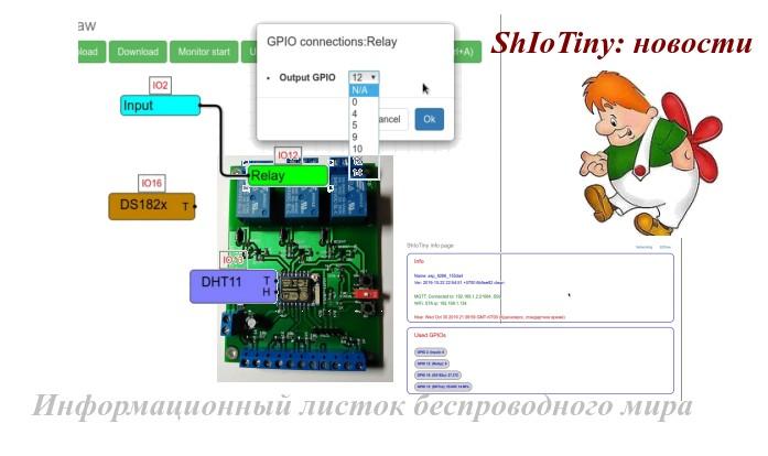 ShIoTiny: обновления и уведомления