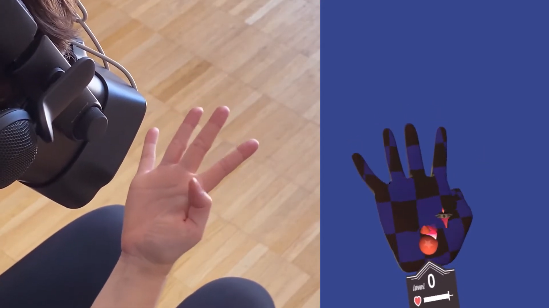 И руки превращаются в VR-дисплей изображение проецируется прямо на ладонь