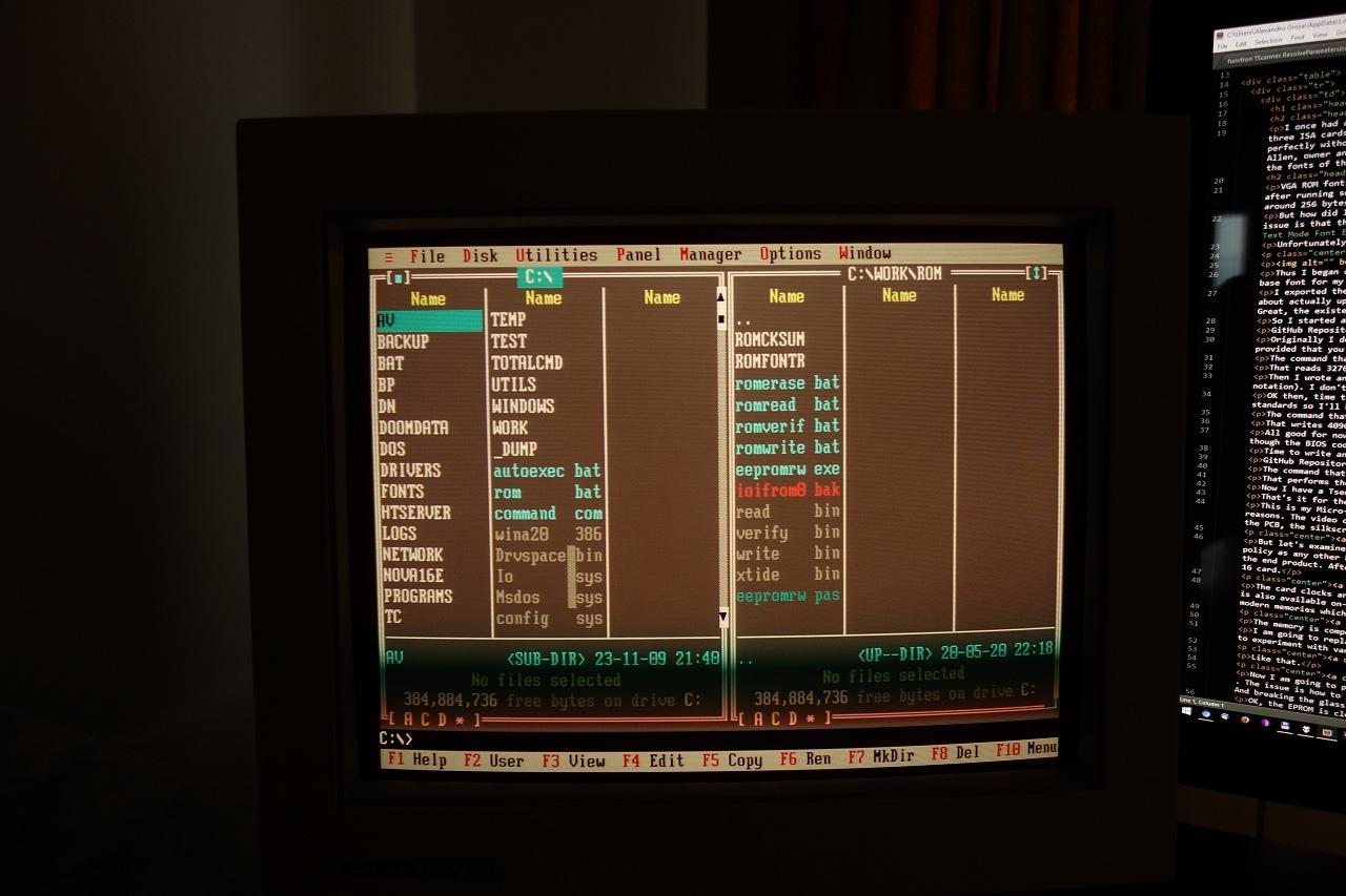 Перевод Интеграция собственных шрифтов в ПЗУ VGA-карты