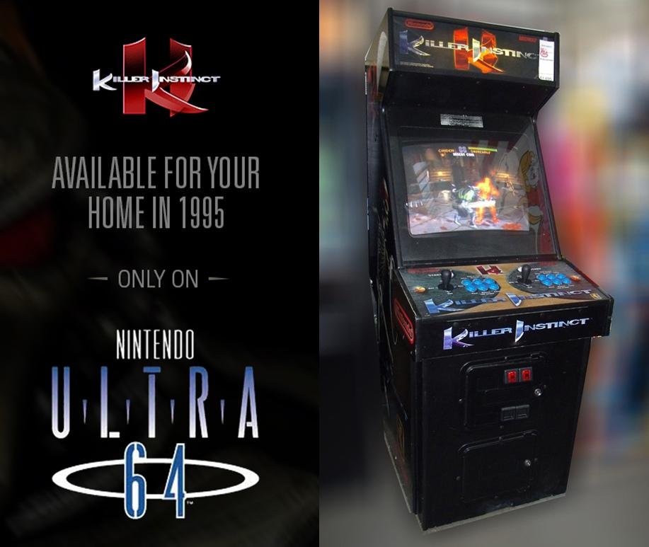 Аркадная версия KI содержала прямую рекламу Ultra 64