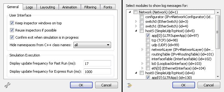 qtenv: fast run 17ms – log filter app