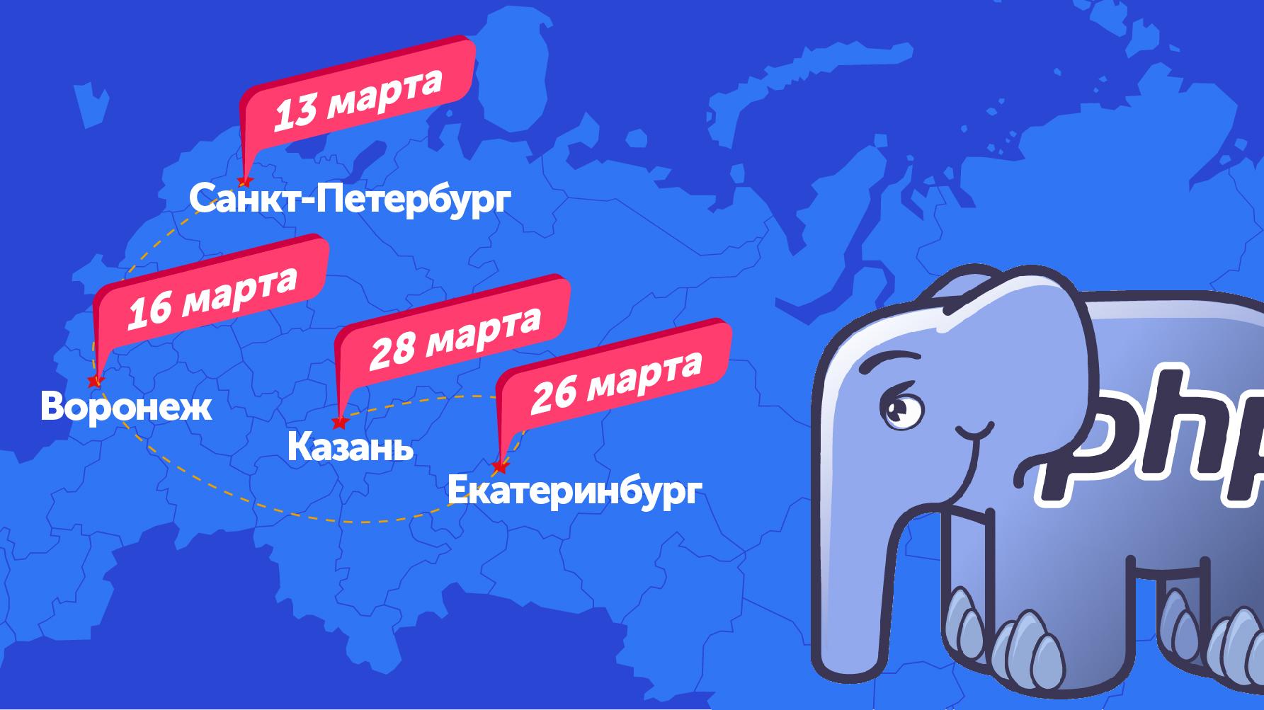 Митапы PHP-сообществ в марте: Питер, Воронеж, Екатеринбург, Казань