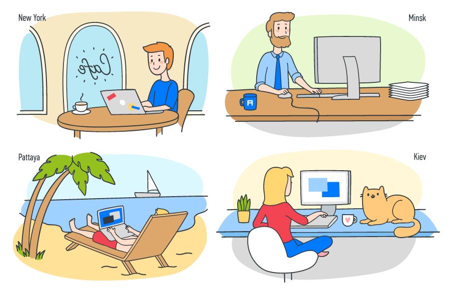 От обычного офиса до полностью удаленной работы: как мы построили эффективную корпоративную культуру