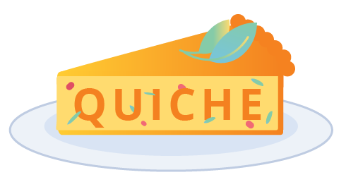 logo quiche in the form of a cake