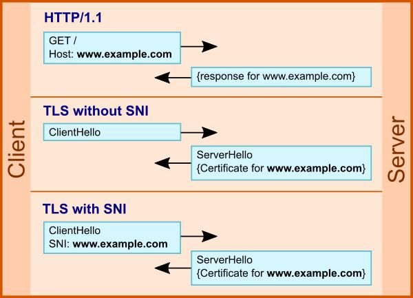 Использование SNI в TLS