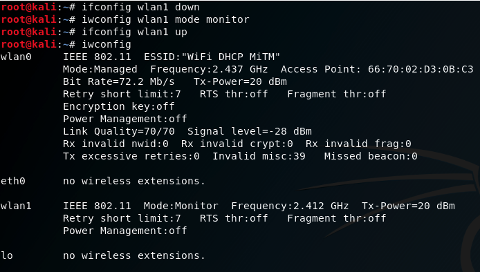 Wlan1 set monitor mode