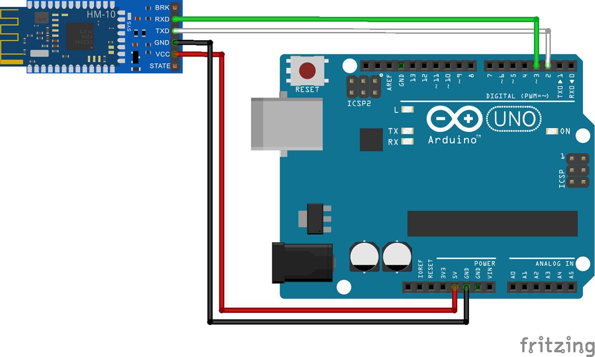 Подключение BLE модуля к Arduino Uno