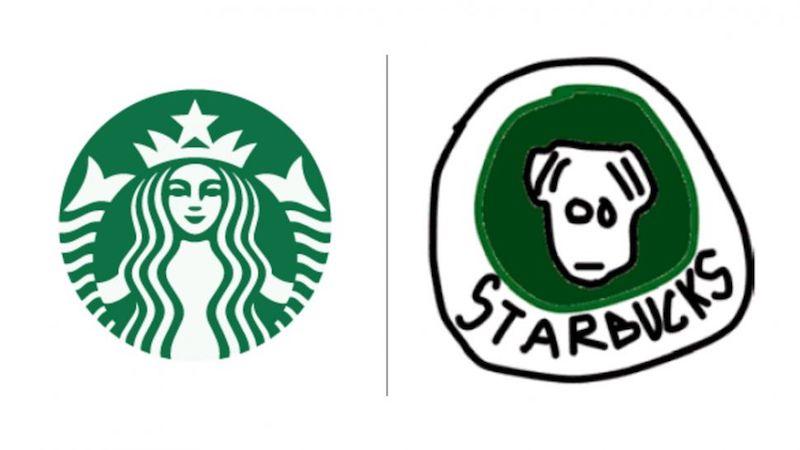 10 известных логотипов, нарисованных по памяти