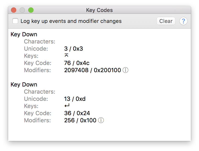 What key code do enter on mac os? - bug-code com Q&A