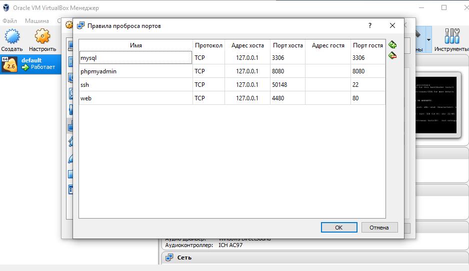 Docker toolbox на windows  Не удается получить доступ к сайту
