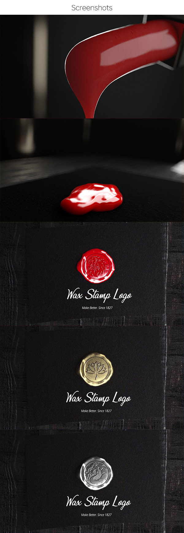 Wax Stamp Logo ( Red, Gold, Silver ) - 1