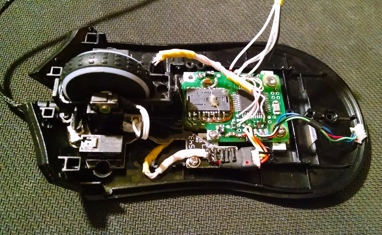 Создание мышки WX-Mouse в корпусе razer Mamba TE
