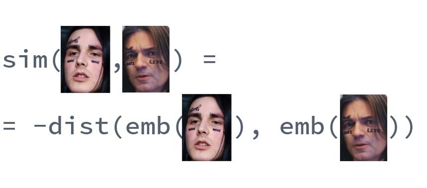 Похожесть лица лица на лицо не лица
