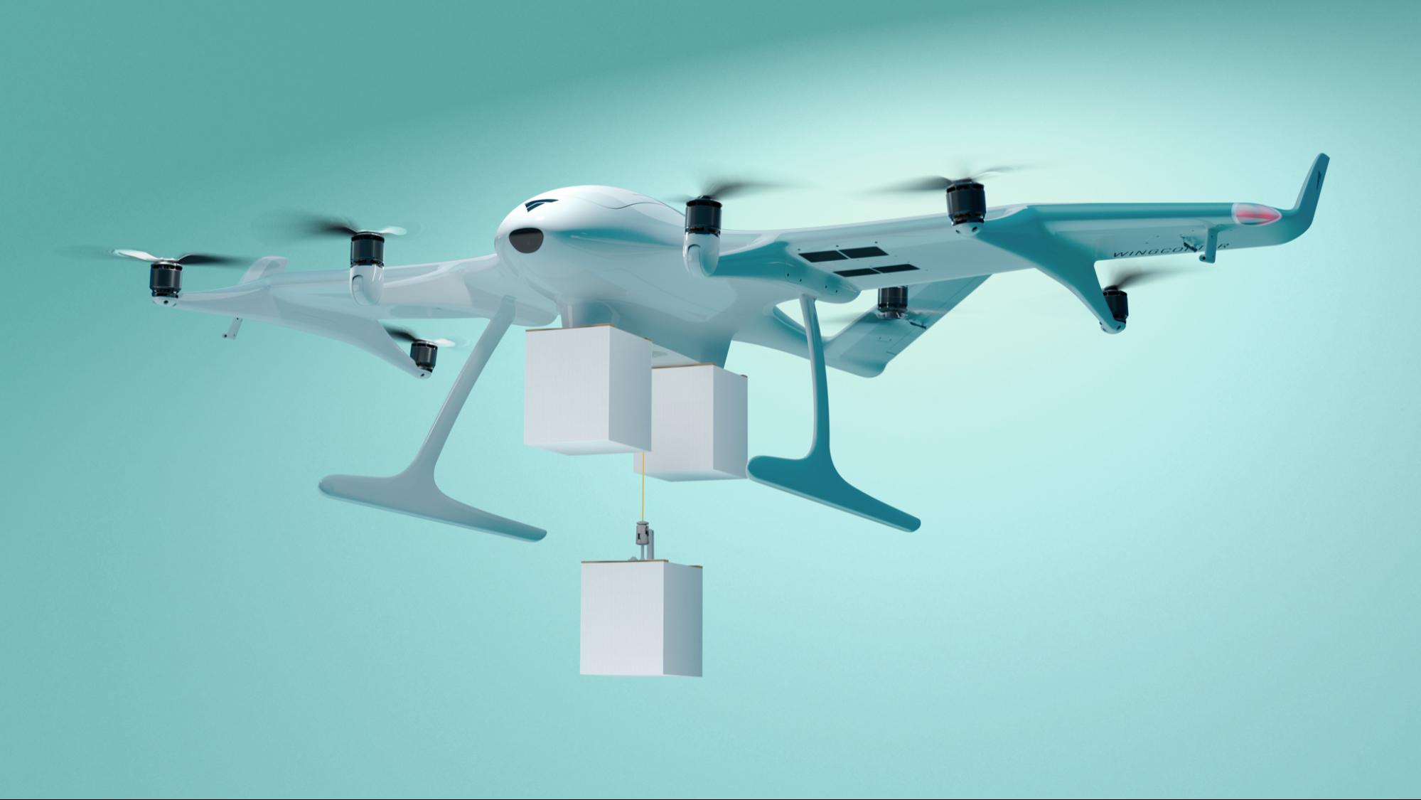 Дары небес в Германии разработали дрона, который доставляет 3 посылки одновременно