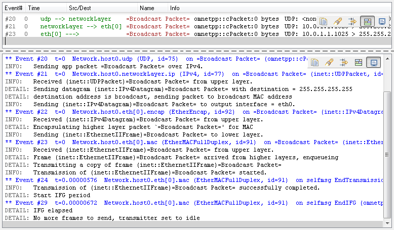 qtenv: in host0 – log – broadcast 255.255.255.255 fixed