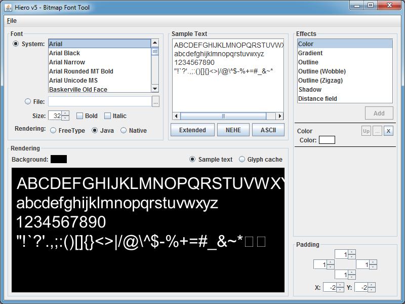 Bitmap Font Tool