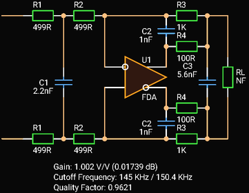 Third Order In-The-Loop Low-pass Filter with Fully Differential Amplifier