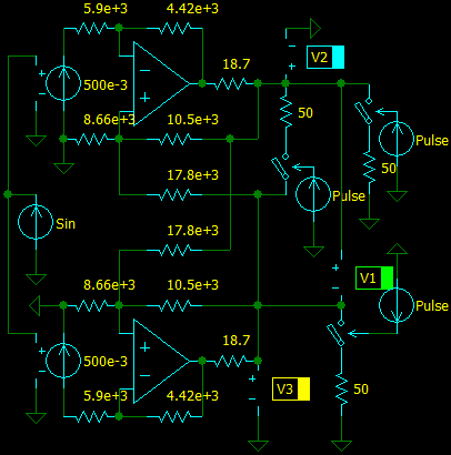 Balanced Driver with Differential Input, circuit