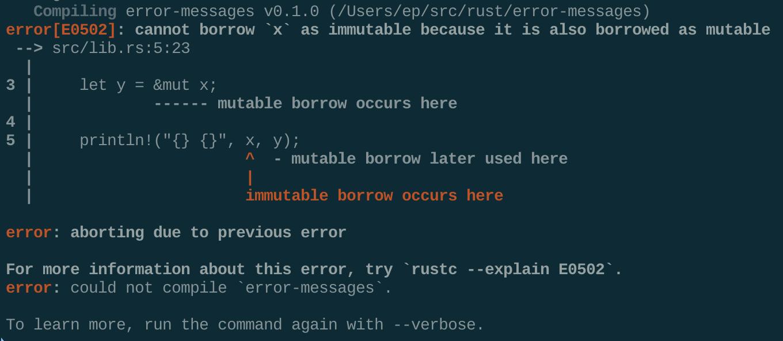 A terminal screenshot of the 1.43.0 error message.