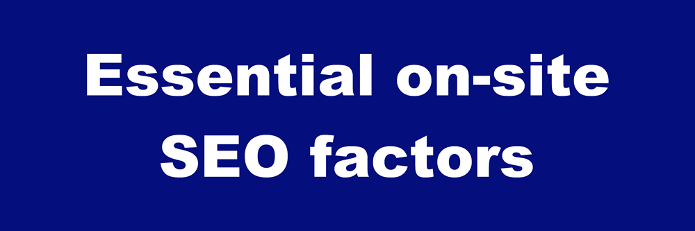 on-site SEO factors