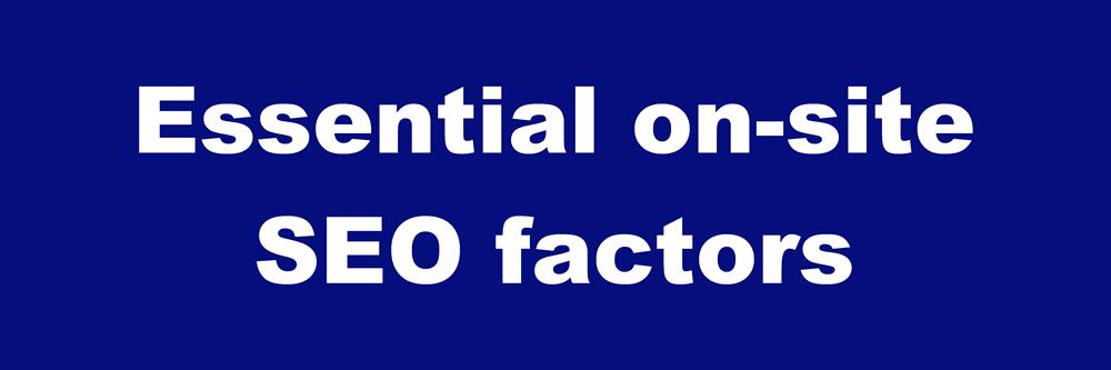 on-site SEO factors