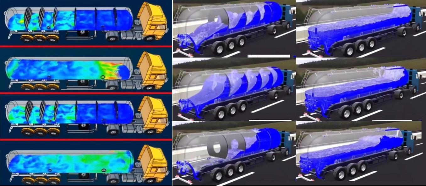 Применение CFD для расчёта снижения колебаний транспортируемой жидкости