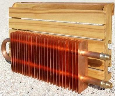 Медный радиатор охлаждения дистиллята.