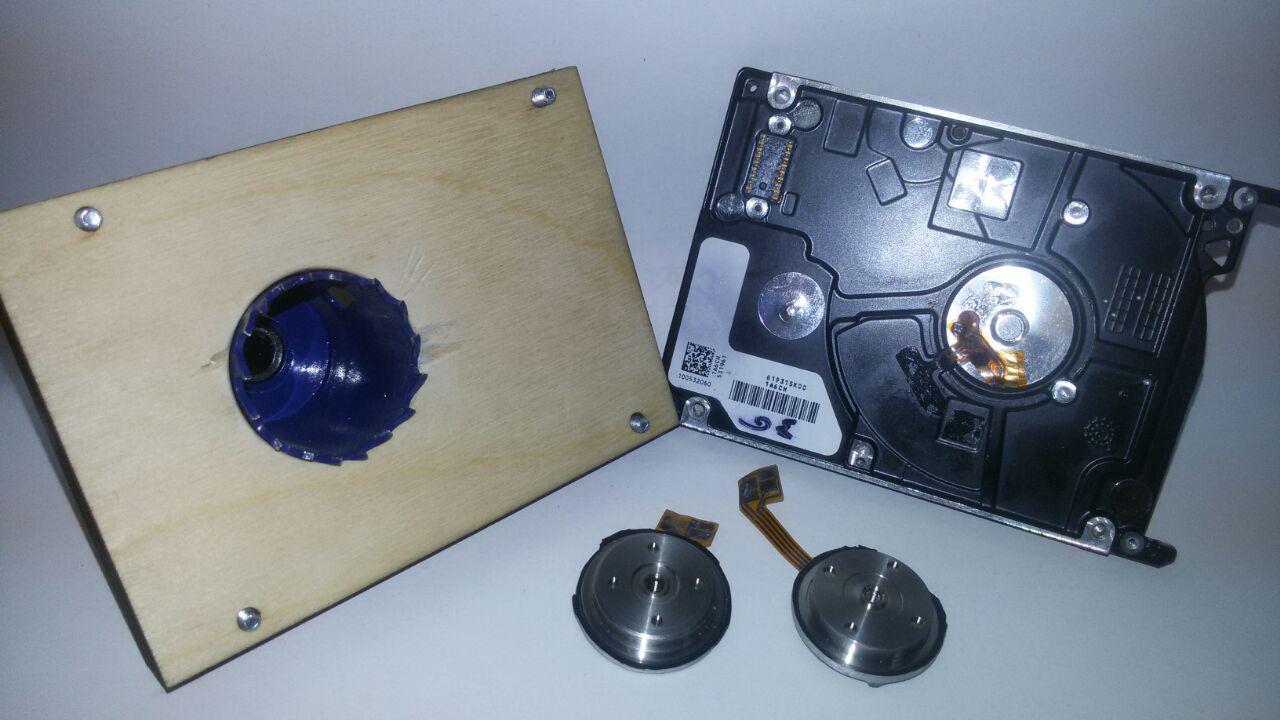 Поделки из нерабочих HDD — мини-помпа