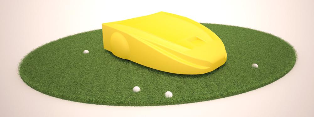 Навигация сервисного робота на поле для гольфа. Построение пути и обход препятствий