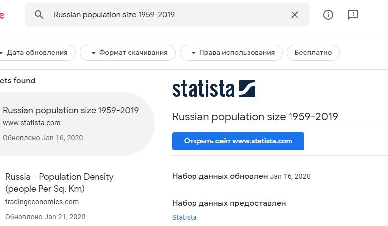 Поисковик Google по датасетам вышел из беты